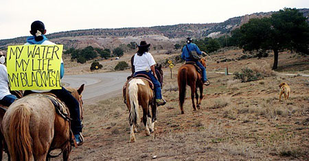 Navajo ride speaking for the protection of Black Mesa by Sierra Club