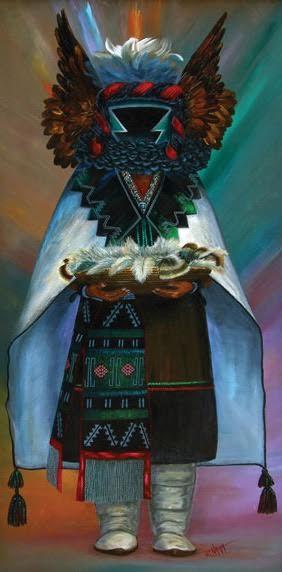 Crow Mother Initiates Children by Ramond Naha