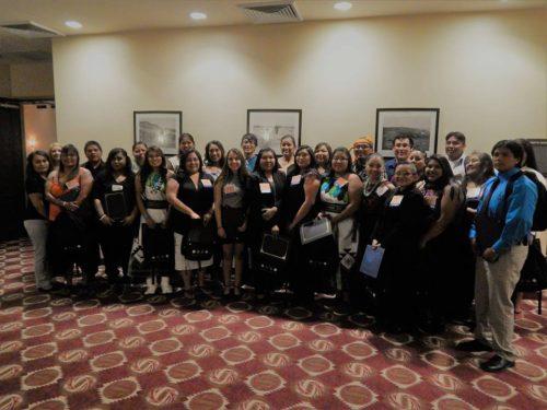 2017 Hopi Scholarship Recipients group photo by Hopi Education Endowment Fund