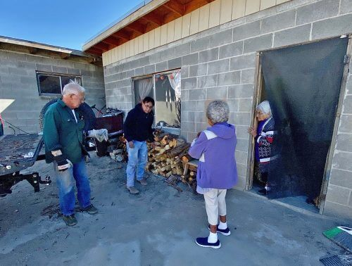 Wood delivered to Hopi elders as part of winter heat support.