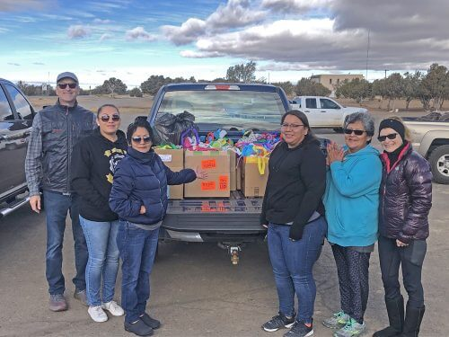 Delivery of gifts for more than 100 Hopi Foster Care youth during our Hopi Holiday Project in 2019..