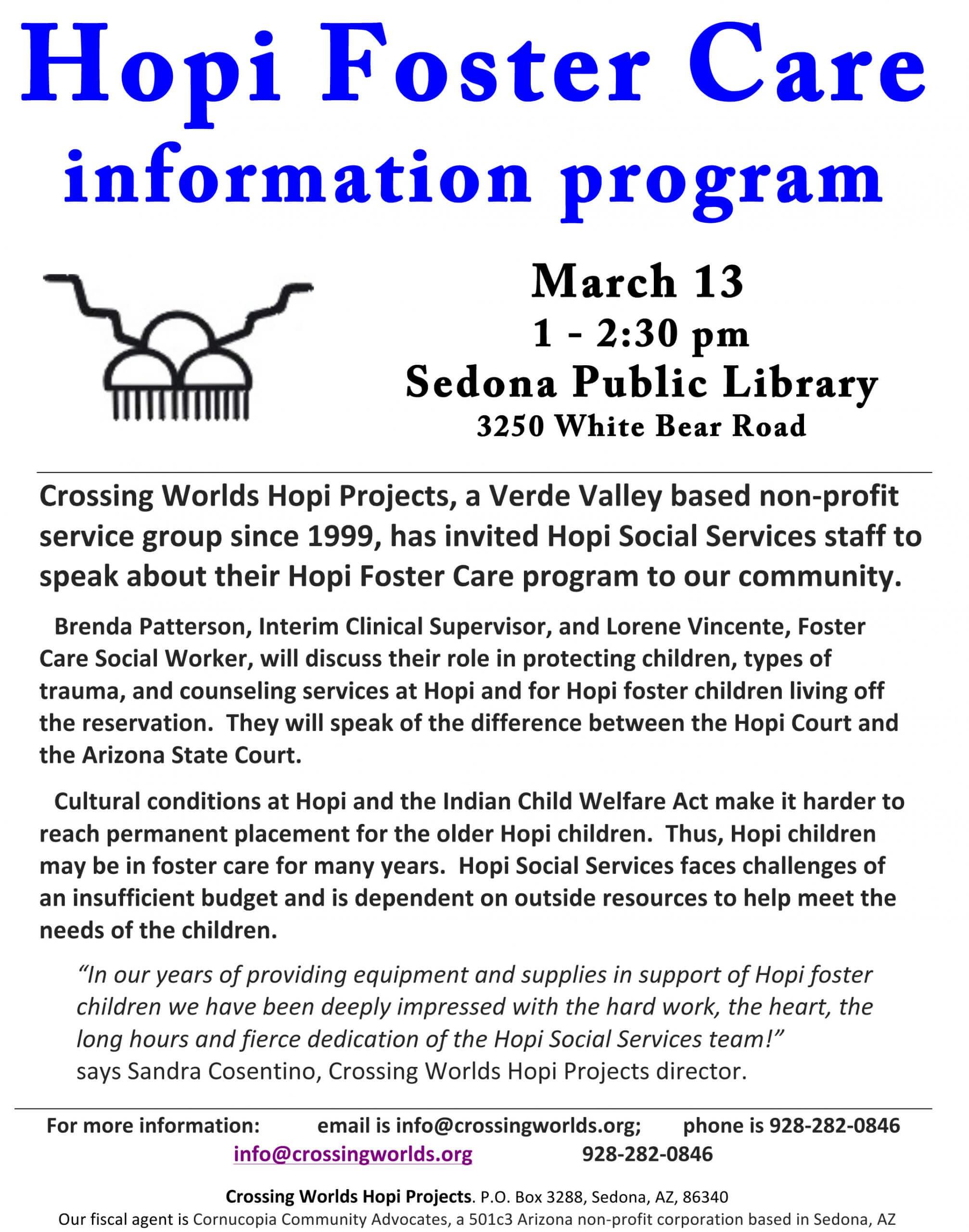 Hopi Foster Care Information Program in Sedona