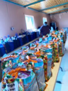 Part of the 330 bags of school supplies delivered to the Village of Shungopavi in October, 2020