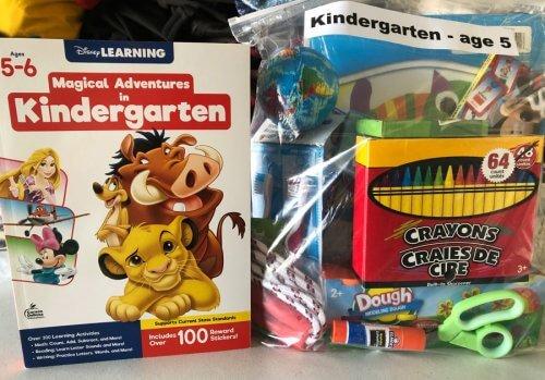 Kindergarten School Supply bag was part of delivery August 2020 to Shungopavi 330 school kids